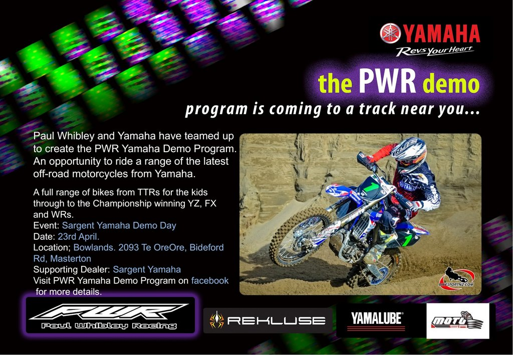 Silver bullet event sargent yamaha pwr demo day for Yamaha demo days